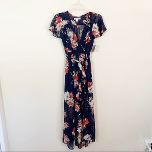 Band of Gypsies • Blue Floral Dress XS